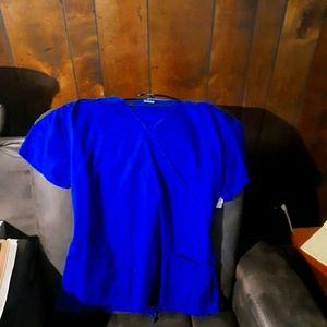 Royal blue scrub top